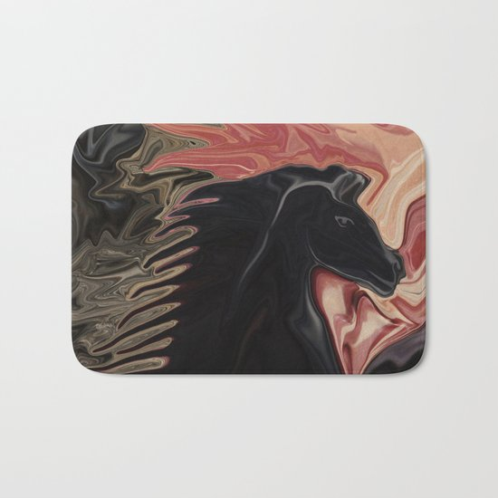 Stallion with the Heart of a Cat Bath Mat