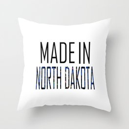 Made In North Dakota Throw Pillow