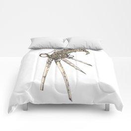 Scissorhands (Sepia-L) Comforters