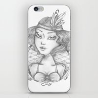 burlesque iPhone & iPod Skins featuring Burlesque by Calinca Alcantara