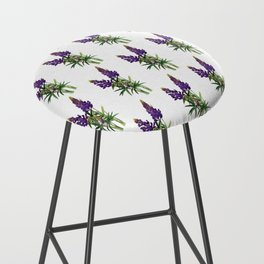 Lovely Lupine Wildflowers Bar Stool
