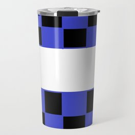 Black and blue chess board Travel Mug