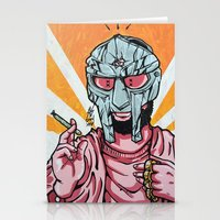mf doom Stationery Cards featuring PINK PROPHET: DOOM by Rob Regis | #ARTLORDXXX
