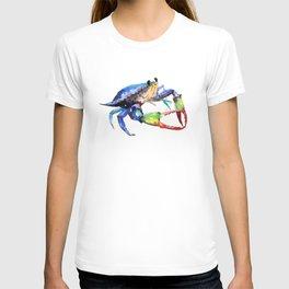 Crab, Sea World Rainbow Colors Beach T-shirt