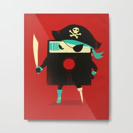 Software Pirate Metal Print