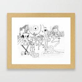 Alien invation Framed Art Print