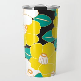 Shades of Tsubaki - Yellow & Black Travel Mug