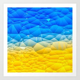 Sunshine and Blue Sky Quilted Abstract Art Print