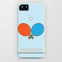 I am the sport! part1 ping pong  iPhone Case