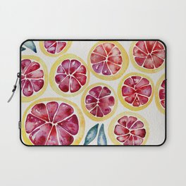 Sliced Grapefruits Watercolor Laptop Sleeve