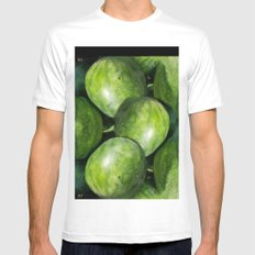 WATER MELON MEDIUM White Mens Fitted Tee