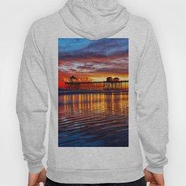 Huntington Beach Sunset   12/2/13 Hoody