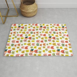 Meow! Colorful Cats Illustration Rug