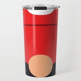 Minimalistic Plumber Red Travel Mug