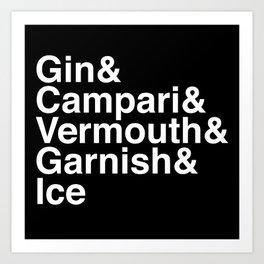 Gin & Campari Art Print