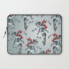 Vampire Bat Pinup Girl Laptop Sleeve