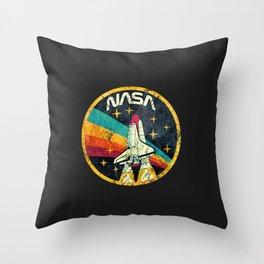 nasa logo Throw Pillow