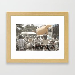 Bangalore Traffic Jam Framed Art Print
