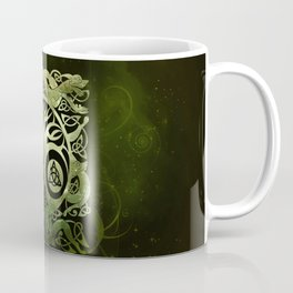 Tree of life - Yggdrasil  and celtic animals Coffee Mug