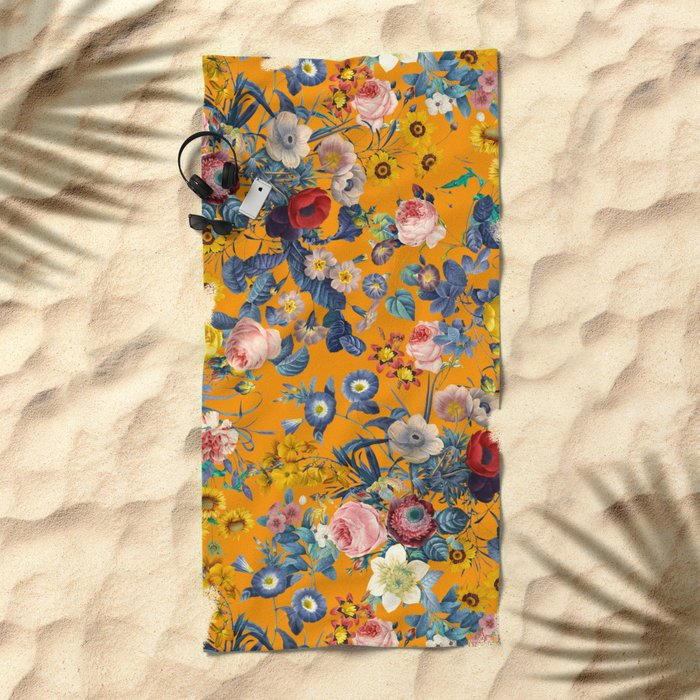 Summer Botanical Garden IX Beach Towel