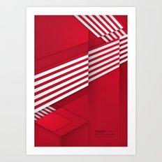 Optical illusion_red Art Print