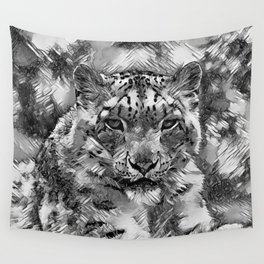 AnimalArtBW_Leopard_20170601_by_JAMColorsSpecial Wall Tapestry