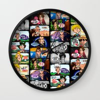 Faces of Who (Black) Wall Clock