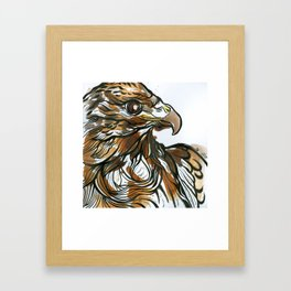 Red Tailed Tea Hawk Framed Art Print