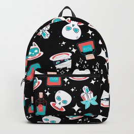 Funky Herb Witch Cat Skull Design Backpack