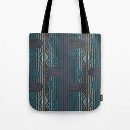 art deco stripe Tote Bag