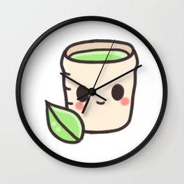 Japanese tea chibi Wall Clock