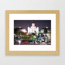Holiday in the Square Framed Art Print