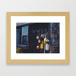 Lobster Buoy Framed Art Print