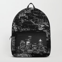 Seattle from the Space Needle in Black and White Backpack