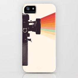 Movie Camera Rainbow iPhone Case