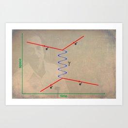 Feynman Diagram Art Print