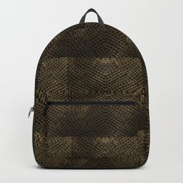 Golden Chainmaille Quilt Backpack