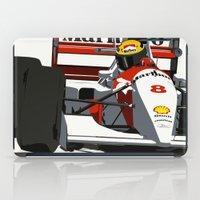 senna iPad Cases featuring AYRTON SENNA- MONACO GRAND PRIX by MATT WARING