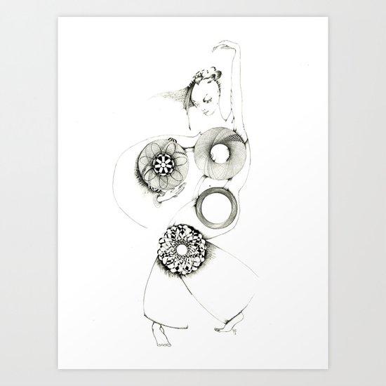 Danseuse Spiral Art Print