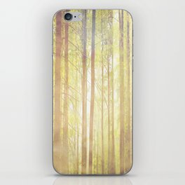 Sacred sun embracing the forest trees iPhone Skin