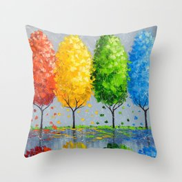 Each tree is individually Throw Pillow
