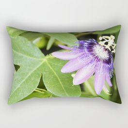 Purple Haze Perfume Passion Flower From Closed to Open Rectangular Pillow