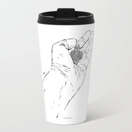 From me to you. My heart in your hands. The end of love...? Travel Mug