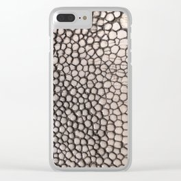 Stingray Skin - Close Up Photograph Clear iPhone Case