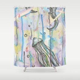 Octo Jelly Chaos Shower Curtain