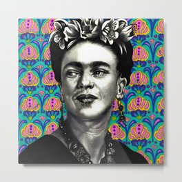 Queen Frida Metal Print