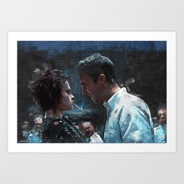 The Confrontation With Marla Singer - Fight Art Print