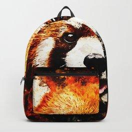 red panda portrait ws std Backpack