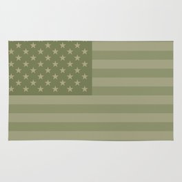Camo Stars and Stripes – USA Flag in Military Camouflage Colors [FalseFlag 1] Rug