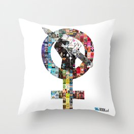 Who Run the World? Bookish Girls Throw Pillow